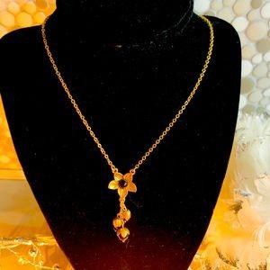 Pilgrim bronze gold with black stone BN